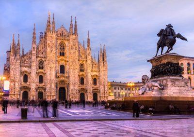 O Romantismo dos Lagos do Norte da Itália e a Charmosa Milão